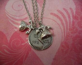 Best Friend Long Distance Necklace Jewelry Set