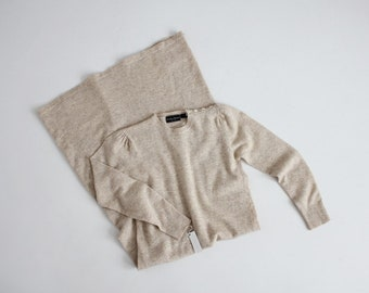 beige heather wool dress | wool sweater dress | knit beige dress