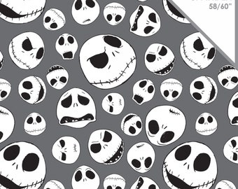 Camelot - Nightmare Before Christmas - Jack Skellington Faces - Fabric by the Yard
