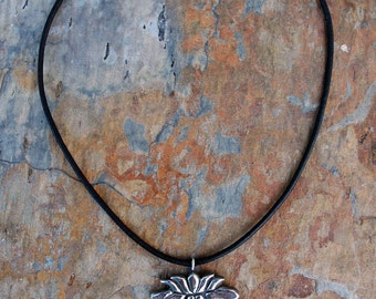 Small Lotus Pendant Necklace