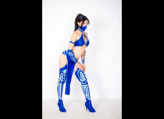 Kitana cosplay costume Mortal kombat, Halloween costume, the video game, ninja  costume, princess assassin, dress adult