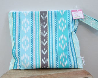 Wet Bag wetbag Diaper Bag ICKY Bag wet proof turquoise aztec gym swim cloth diaper accessories zipper gift newborn baby child kids summer