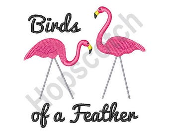 Flamingos - Machine Embroidery Design, Birds Of A Feather