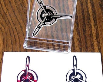 May Sale Airplane Propeller Rubber Stamp 038