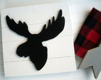 Moose Sign . Moose Head . Moose Nursery . 3D Sign . Lumberjack Nursery . Lodge .Wood Moose Sign . Moose  . Woodland Decor . Forest Nursery