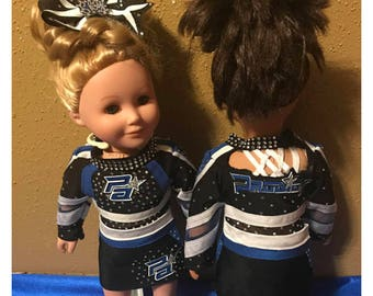 """18"""" doll replica cheer uniform and jersey"""