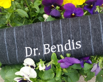 Birthday Gift For Doctor, Customized Embroidered Scarf, Personalized Gifts, Unisex Wool Scarf,