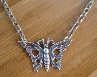 SALE Butterfly Necklace - Beautifly Silver Butterfly Necklace