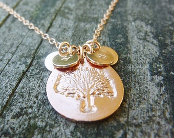 Family Tree Necklace Gold,Personalized Family Tree Necklace,Rose Gold Family Tree Necklace,Gold Tree Necklace,Tree of Life Necklace