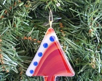 Fuse Glass Christmas Tree Ornament