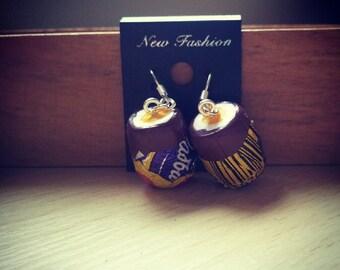 Creme egg dangle earrings