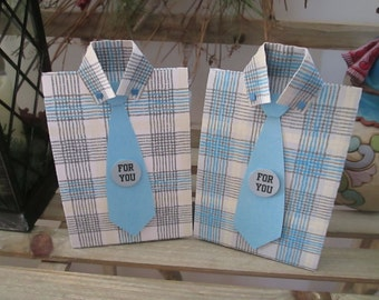 Masculine Plaid Shirt large Favor Boxes  Set of 12 with Free Shipping