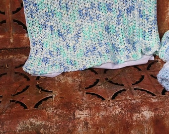 Blue Speckled Baby Blanket