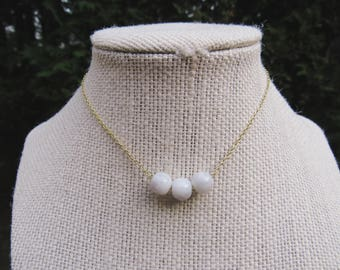 Triple Marble Necklace