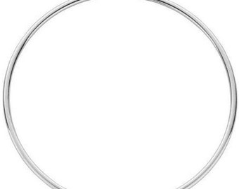 Classic 925 Sterling Silver Large Hoop Earrings | Hoops | Luxury | High End | Boho | 2mm width | 6.5cm diameter | Fine Jewellery | SIEFF