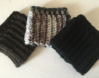 Chunky Crocheted Boot Cuffs
