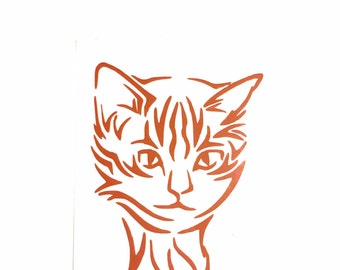DIY Cat Vinyl Decal, Choose Size, Choose Color, Laptop, Cell phone, Car Window, Drinking Cup, Picture Frame, Glass Ware, Cat Lovers