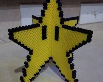3d Mario star tree topper