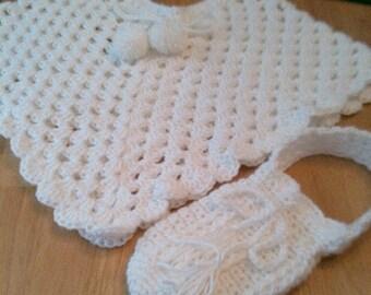 Girls Poncho, Crocheted Poncho, Mini bag, Crocheted Mini Bag, Girls Fashions, Girls Clothing,