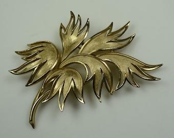 Trifari© Gold Plated Leaf Pin