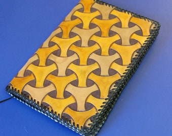 Ring Geometric Leather Journal Cover