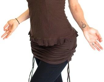 Yoga Skirt, coverup dance skirt, SHIMMY SKIRT, Adjustable length, bellydance, Layering, Dancewear