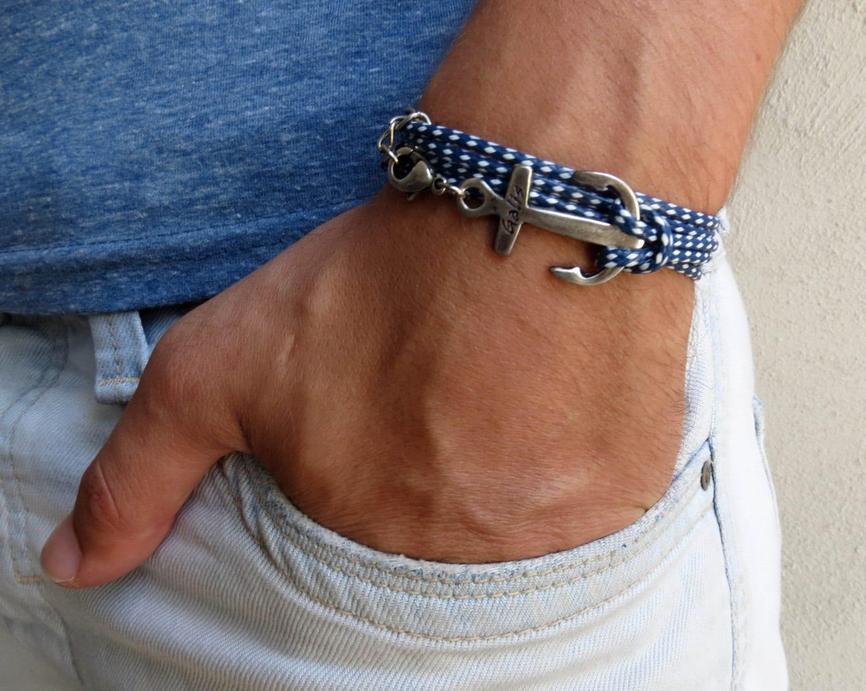 Men's Bracelet Men's Anchor Bracelet Men's