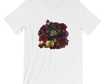 Vampire D20 Short-Sleeve Unisex T-Shirt - D&D Tabletop Gaming