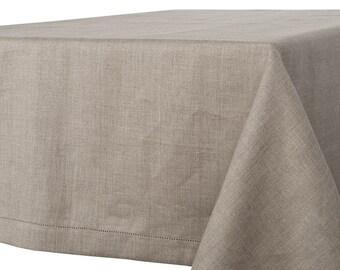 100 % LINEN TABLECLOTH RUSTIC Linen Tablecloth Rectangle,Square Tablecloth,  Rectangle Tablecloth , Tablecloth
