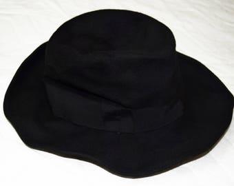 Vintage fedora black hat