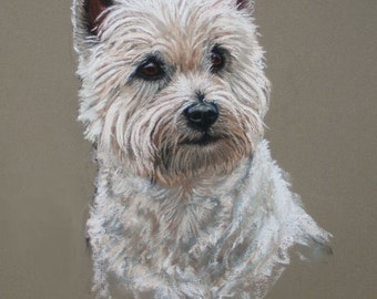 West Highland White westie dog dog gift dog lover gift fine art Limited edition print available unmounted or mounted ready to frame