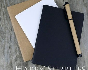 BULK 50 (B5 / 18.5x26cm / 16K) Blank Kraft Notebooks / Express Post (NO LOGO or Marks on Cover)