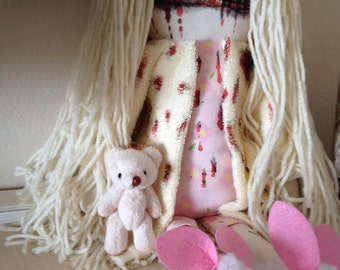 Zombie/Teddy Bear Girl-Summer - Inspired by TWD - Creepy n Cute Zombie Doll (D&P)
