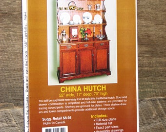 China Hutch #Y1352 -Craft Pattern