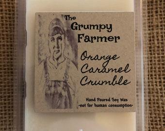 Orange Caramel Crumble soy wax tart