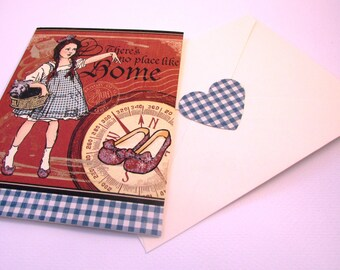 Greeting Card Vintage Wizard of Oz Dorothy and Toto with Envelope Seal QueenBeeInspirations
