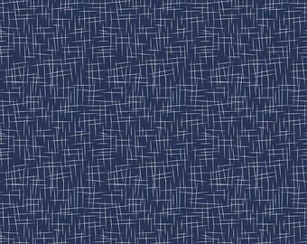 Hashtag Large White on Navy - Riley Blake Designs - Blue - Quilting Cotton Fabric - choose your cut