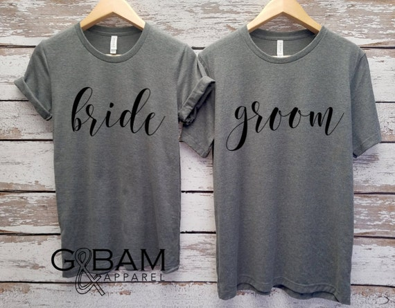 Honeymoon shirts!  Mr. and Mrs. Shirts / Bride & Groom Shirts Unisex T-shirt / Groom shirt/ Bride Shirt / Future MR and MRS