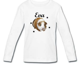 Girl pig long sleeve t-shirt from India personalized with name