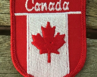 """Last One, Hosers! Canada Vintage Travel Souvenir Patch, a """"Put On"""" by Lion - New in Original Package"""