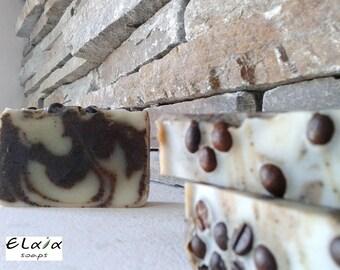 Coffee Soap, Body Scrub Soap, Natural Vegan Soap, Olive Oil Soap, Handmade Soap