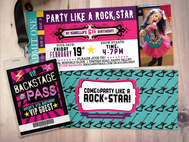 Pop star Rock Star concert ticket birthday