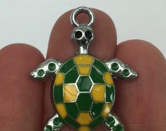 3 Turtle Charms Enamel - SC605