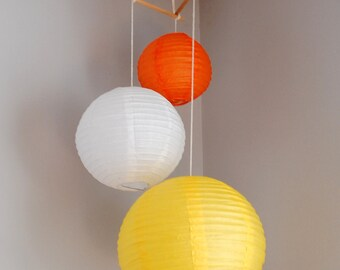 Customizable Mini Paper Lantern Mobiles