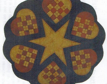 Woven Hearts by Lily Anna Stitches -  Folk Art Penny Pattern
