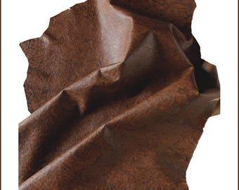 S A660-skin leather lamb VINTAGE EXOTIC print Caramel (Xl).