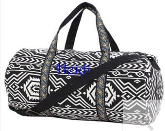 Monogram Duffle Bag Indian Print Duffle Bag Cotton Duffle Bag