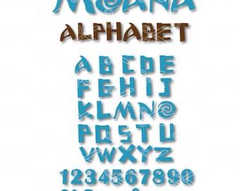 Moana SVG, DXF, PNG, Eps, Moana Cut Files, Moana Alphabet, Moana Clipart, Moana Vector, Moana Disney, Moana clip art, moana font