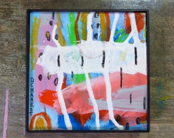 Framed Abstract Painting Original