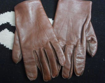 vintage foster brothers leather driving gloves